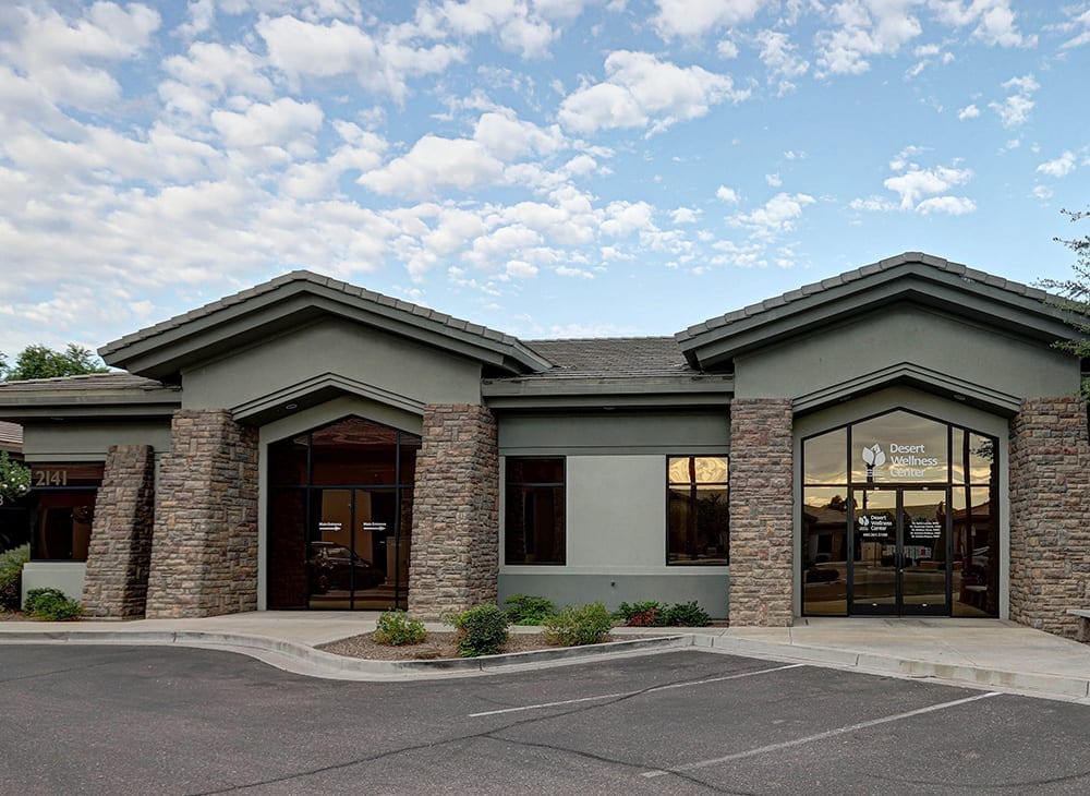 photo of the front of the building where Desert Wellness Center and Dr Courtney Cronin practice